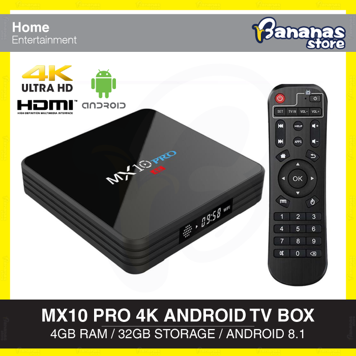 MX10 PRO Android 8 1 4K UHD TV Box